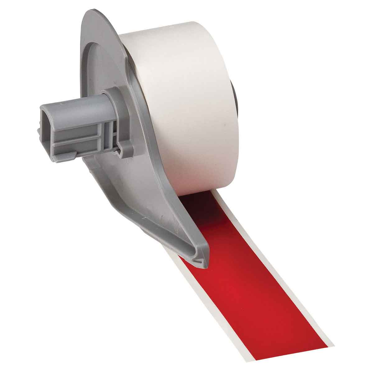 Brady® M71C-1000-595-RD Blank Thermal Transfer Tape, 50 ft L x 1 in W, Red, B-595 Vinyl, Permanent Acrylic Adhesive, -40 to 180 deg F