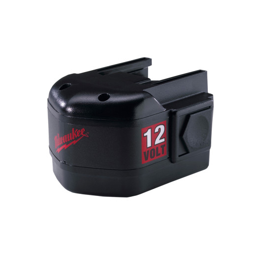Milwaukee® 48-11-1970 M12™ Rechargeable Slide on Style Cordless Battery Pack, 2.4 Ah Ni-Cd Battery, 12 VDC Charge, For Use With Milwaukee® 12 VDC Ni-Cd Cordless Tool