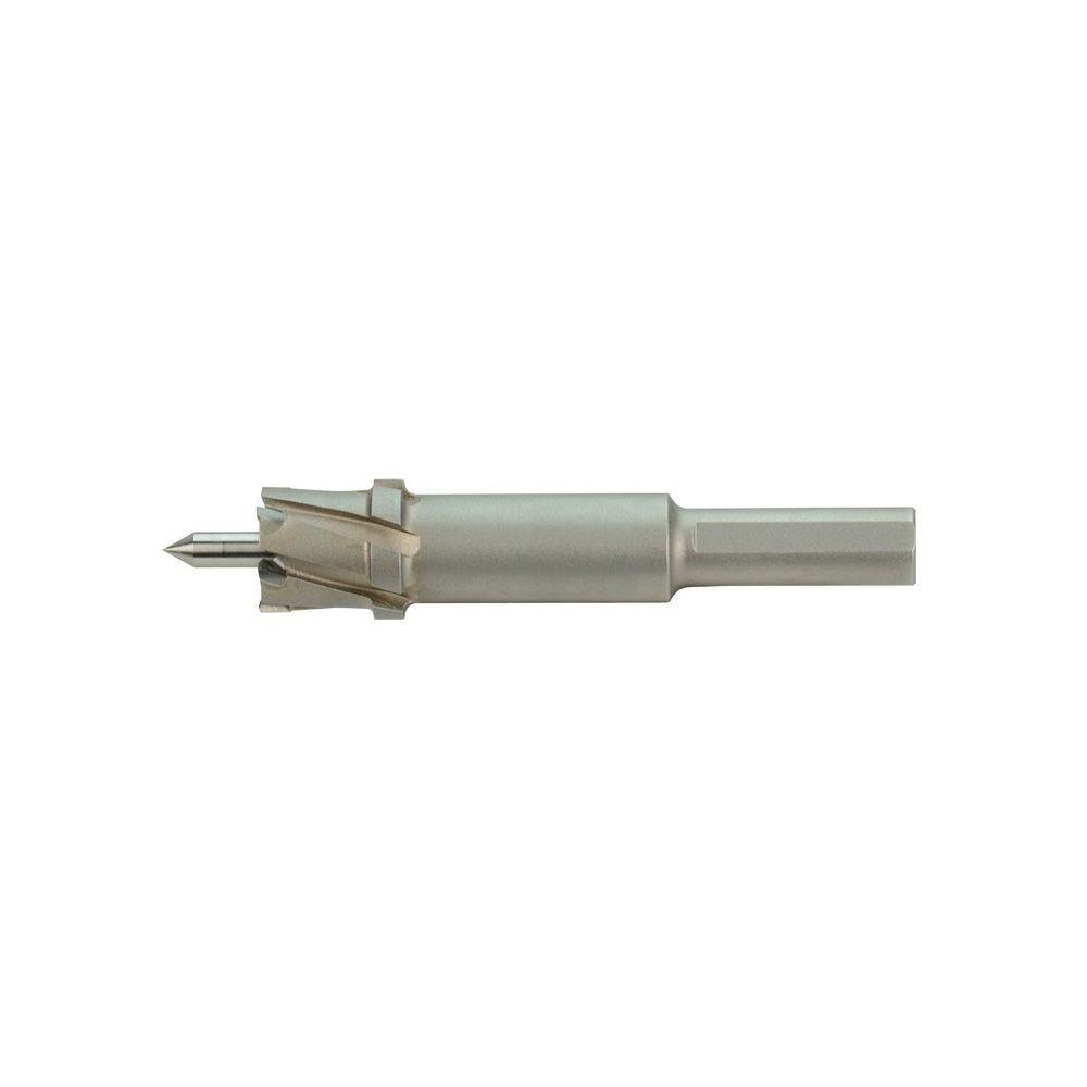 Milwaukee® Steel Hawg® 49-57-8106 1-Piece Standard Drive Annular Cutter, 1-1/16 in Dia Cutter, 1/2 in D Cutting, Carbide, 3-Flat Shank