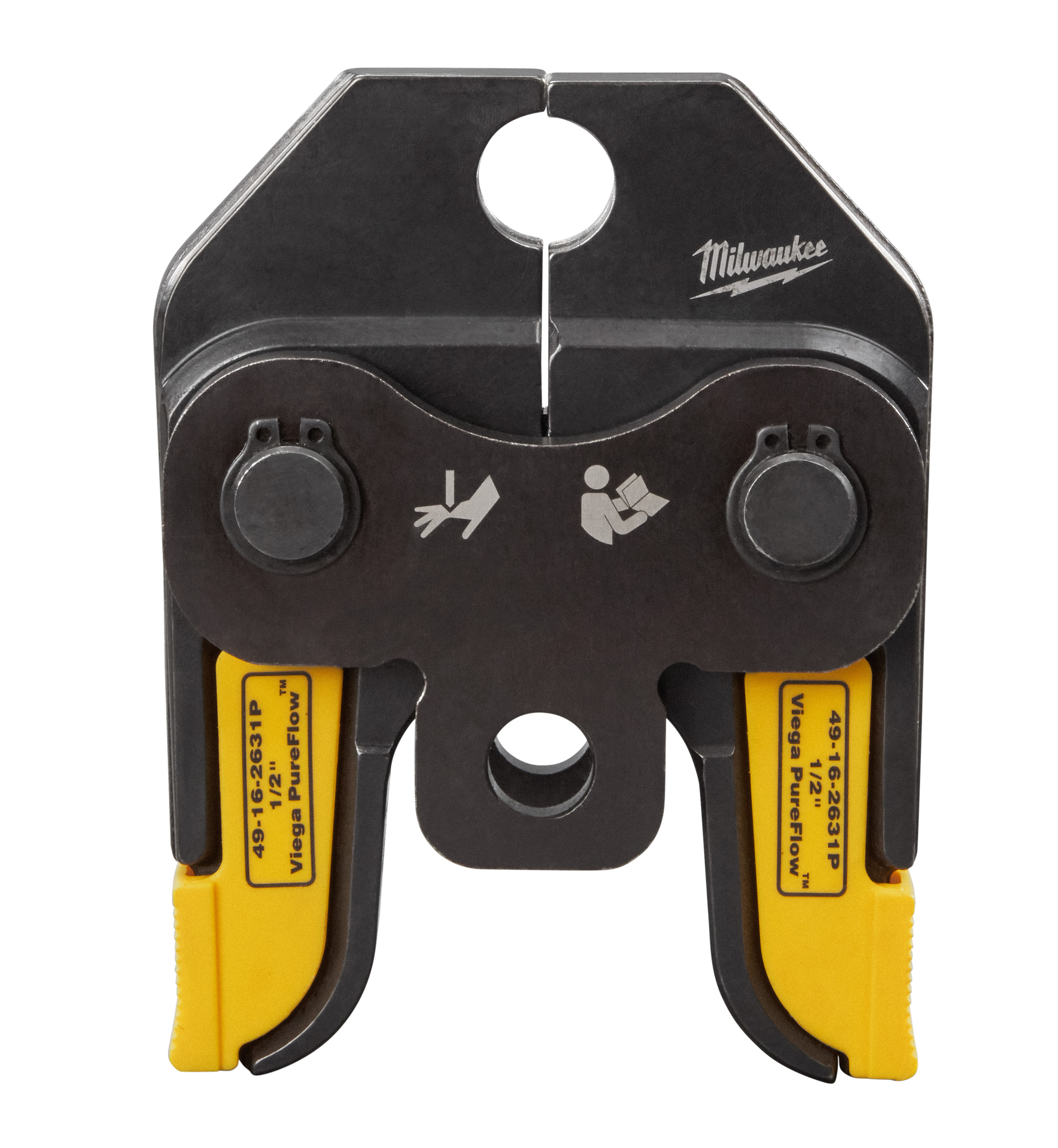 Milwaukee® Viega PureFlow® 49-16-2631P Press Jaw, For Use With M18™ Short Throw Press Tool and Viega PureFlow™ Fitting System, 1/2 in Jaw Capacity, Steel