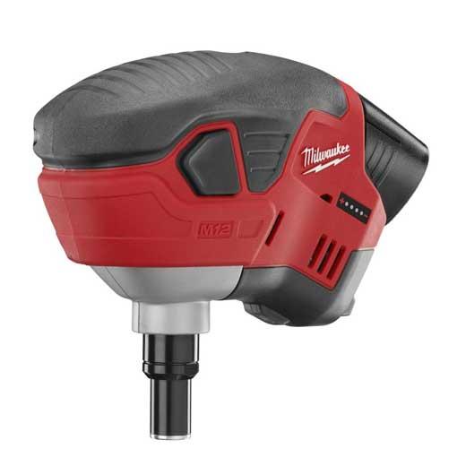 Milwaukee® M12™ 2458-21 Cordless Palm Nailer Kit, 6D to 16D Fastener, For Fastener Type: Framing, 7-1/2 in OAL, Battery