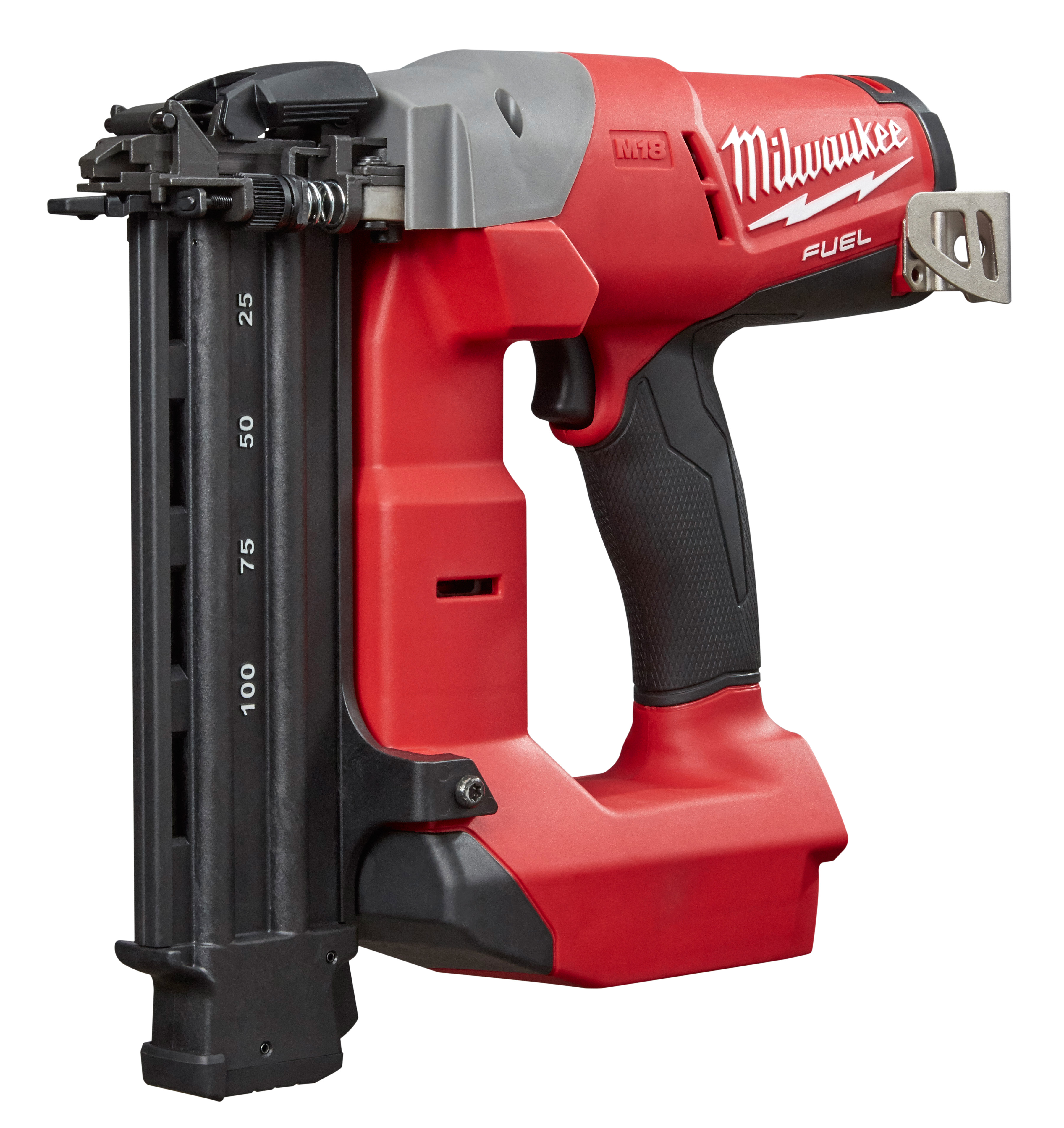Milwaukee® M18™ FUEL™ 2740-20 Brushless Cordless Brad Nailer, 5/8 to 2-1/8 in Fastener, 110 Nails Nails Magazine, 11-13/32 in OAL, Battery