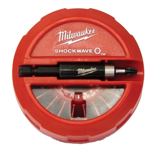 Milwaukee® SHOCKWAVE™ 48-32-4011 Puck Kit, 22 Pieces, 1/4 in Dia Shank, Plastic/Steel