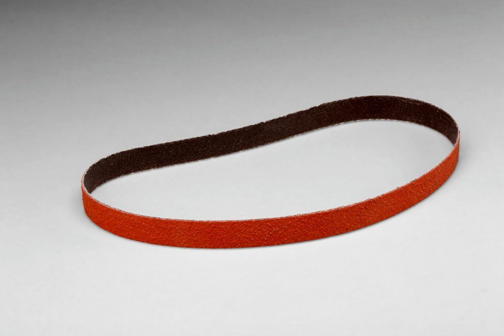 3M™ 051144-77065 777F File Abrasive Belt, 1/2 in W x 24 in L, 60 Grit, Medium Grade, Ceramic Aluminum Oxide Abrasive, Polyester Backing