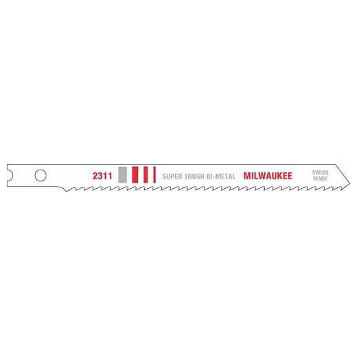 Milwaukee® 48-42-2311 Jig Saw Blade, 4 in L x 9/32 in W, 10, Bi-Metal Cutting Edge, Bi-Metal Body