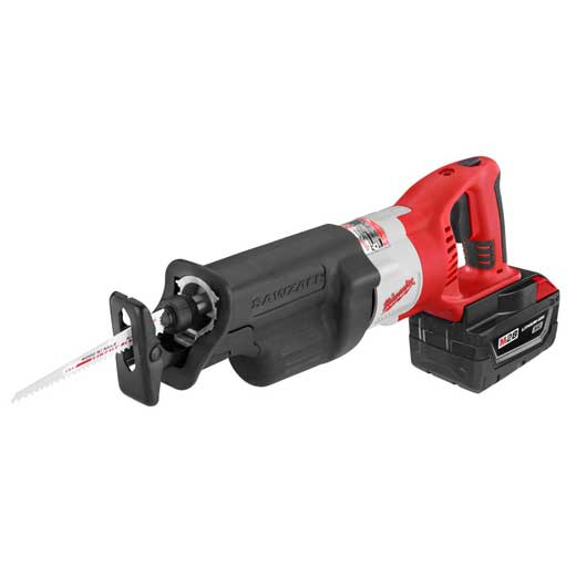 Milwaukee® 0719-22 M28™ Sawzall® Cordless Reciprocating Saw Kit, 1-1/8 in L Stroke, 0 to 2000/0 to 3000 spm, Straight Cut, 28 VDC, 15-7/8 in OAL