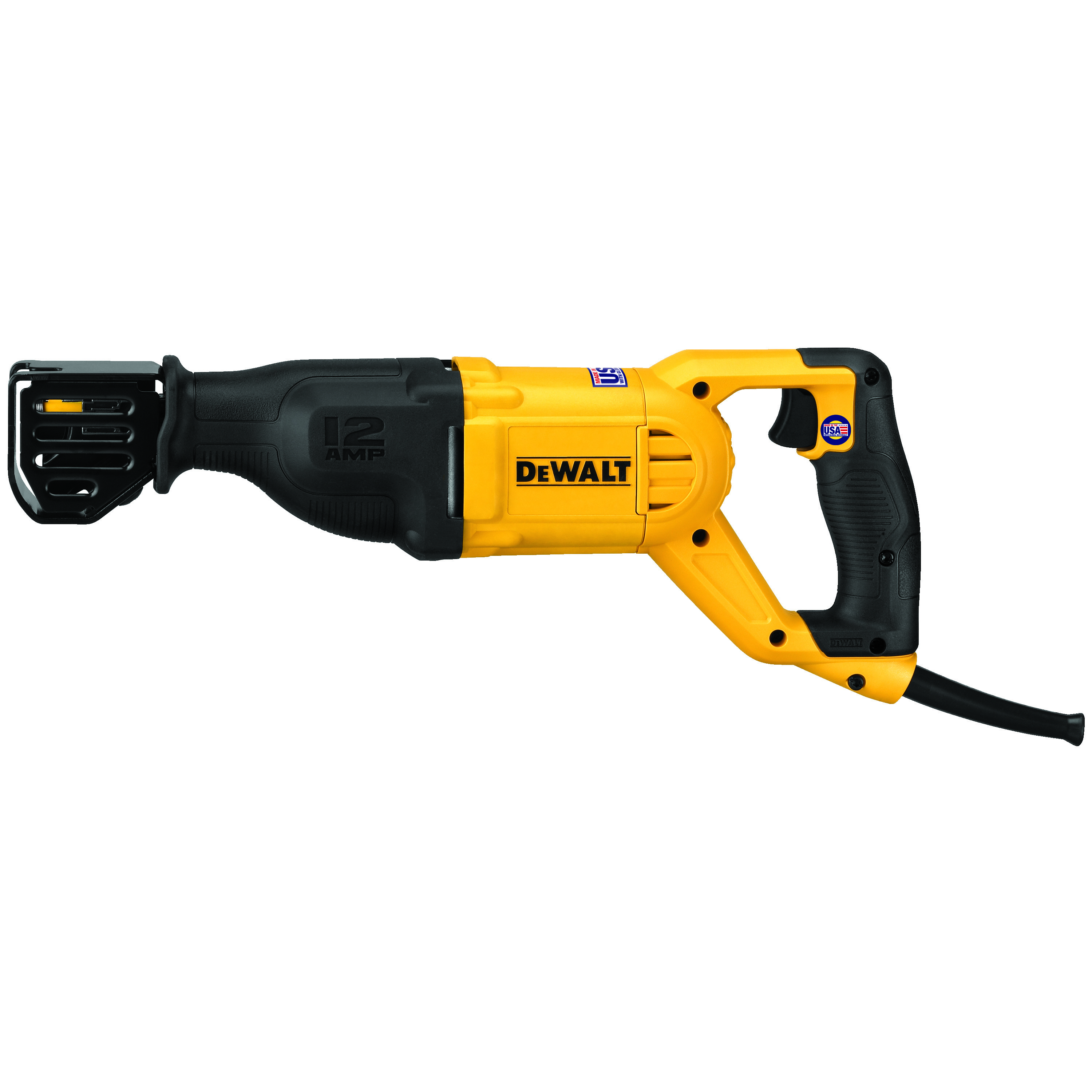 DeWALT® DWE305 Corded Reciprocating Saw, 1-1/8 in L, 0 to 2900 spm, 17-1/2 in OAL, Tool Only