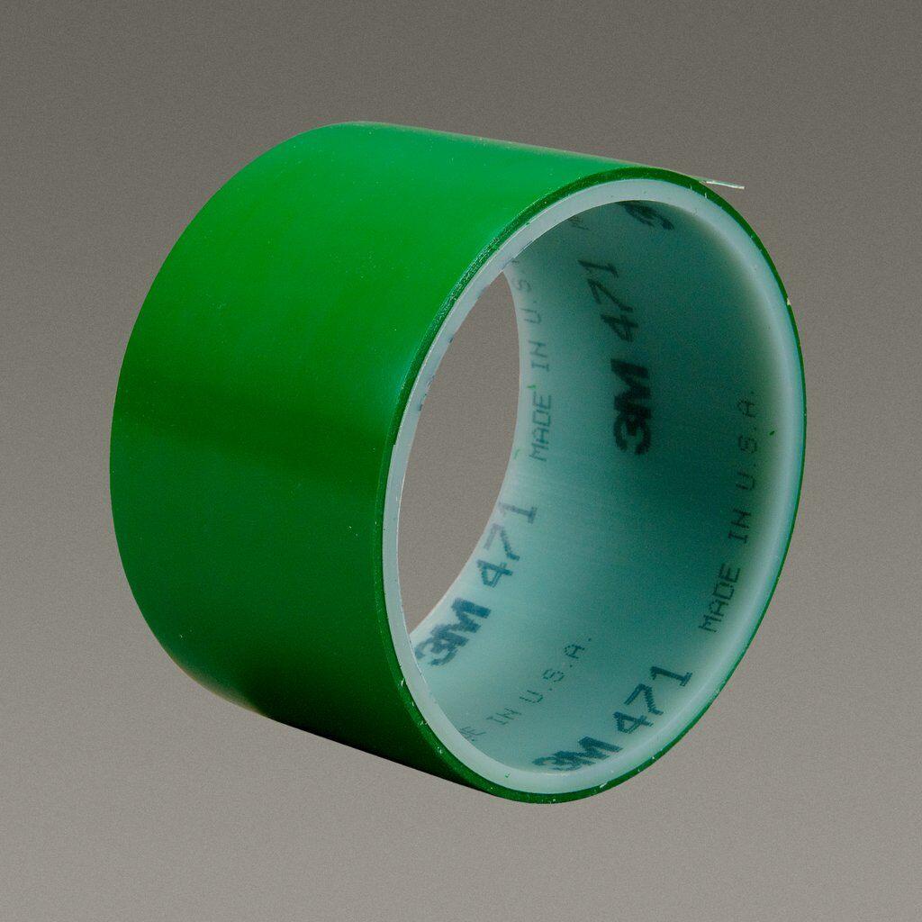 "3M™ 471-Green-2""x36yd-Bulk High Performance Vinyl Tape, 36 yd L x 2 in W, 5.2 mil THK, Rubber Adhesive, Vinyl Backing, Green"