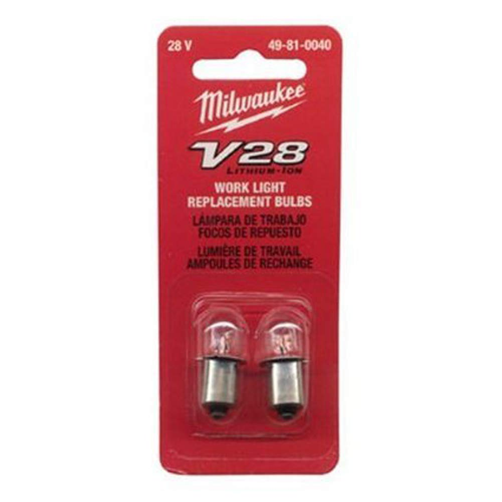 Milwaukee® V28™ 49-81-0040 Replacement Work Light Bulb, 4.76 W, LED Bulb, Bayonet Base, Tubular Shape