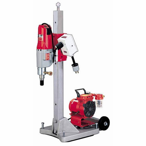 Milwaukee® 4120 Contractor Large Base Diamond Coring Stand, 120 VAC, 115.30 lb Steel Column Tool Weight