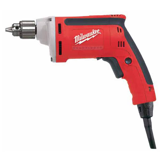 Milwaukee® 0101-20 Magnum™ Grounded Electric Drill, 1/4 in Keyed Chuck, 120 VAC, 4000 rpm Speed, 10-13/64 in OAL