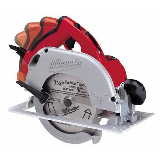 Milwaukee® 6394-21 Corded Circular Saw, 7-1/4 in Dia Blade, 5/8 in Arbor/Shank, 1-13/16 in at 45 deg, 1-11/16 in at 50 deg, 2-7/16 in at 90 deg Cutting, Right Blade Side