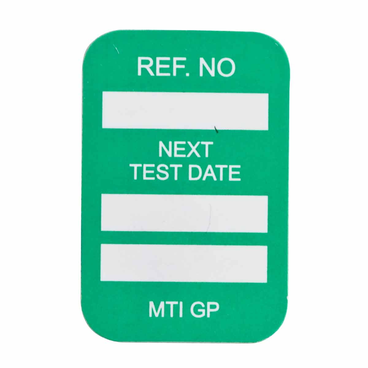 Brady® 104145 Rectangle Insert Tag, 1-1/4 in H x 1-1/4 in W, White on Green, B-874 Plastic