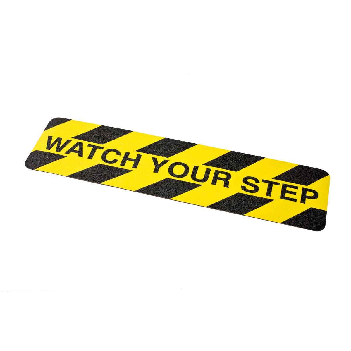Brady® 78163 Die-Cut Laminated Non-Reflective Anti-Skid Hazard Marking Cleat, 24 in L x 6 in W x 0.026 in THK, B-916 Polyester