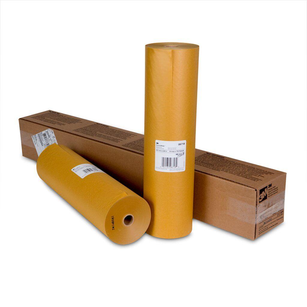 3M™ Scotchblok™ 6718 Masking Paper, 750 ft Roll L x 18 in W x 2 mil THK, Paper, Gold