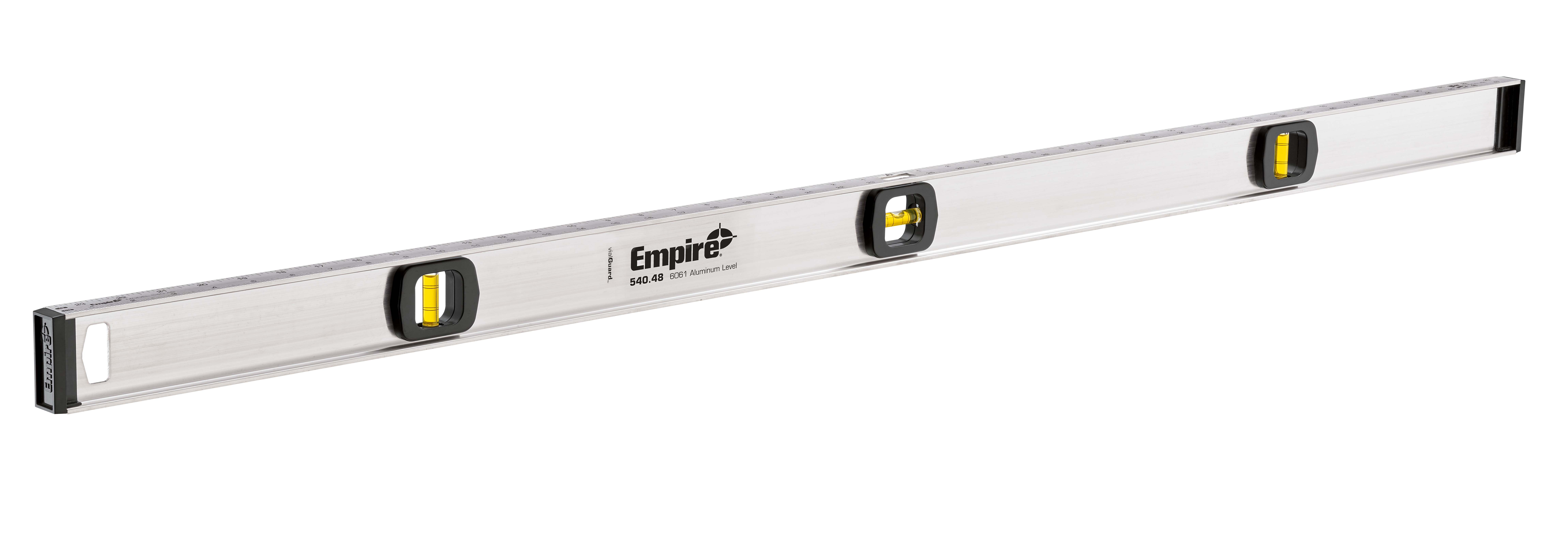 Milwaukee® Empire® 540-48 Tradesman's I-Beam Level, 48 in L, 3 Vials, Aluminum, (1) Level, (2) Plumb Vial Position, 0.001 in Accuracy