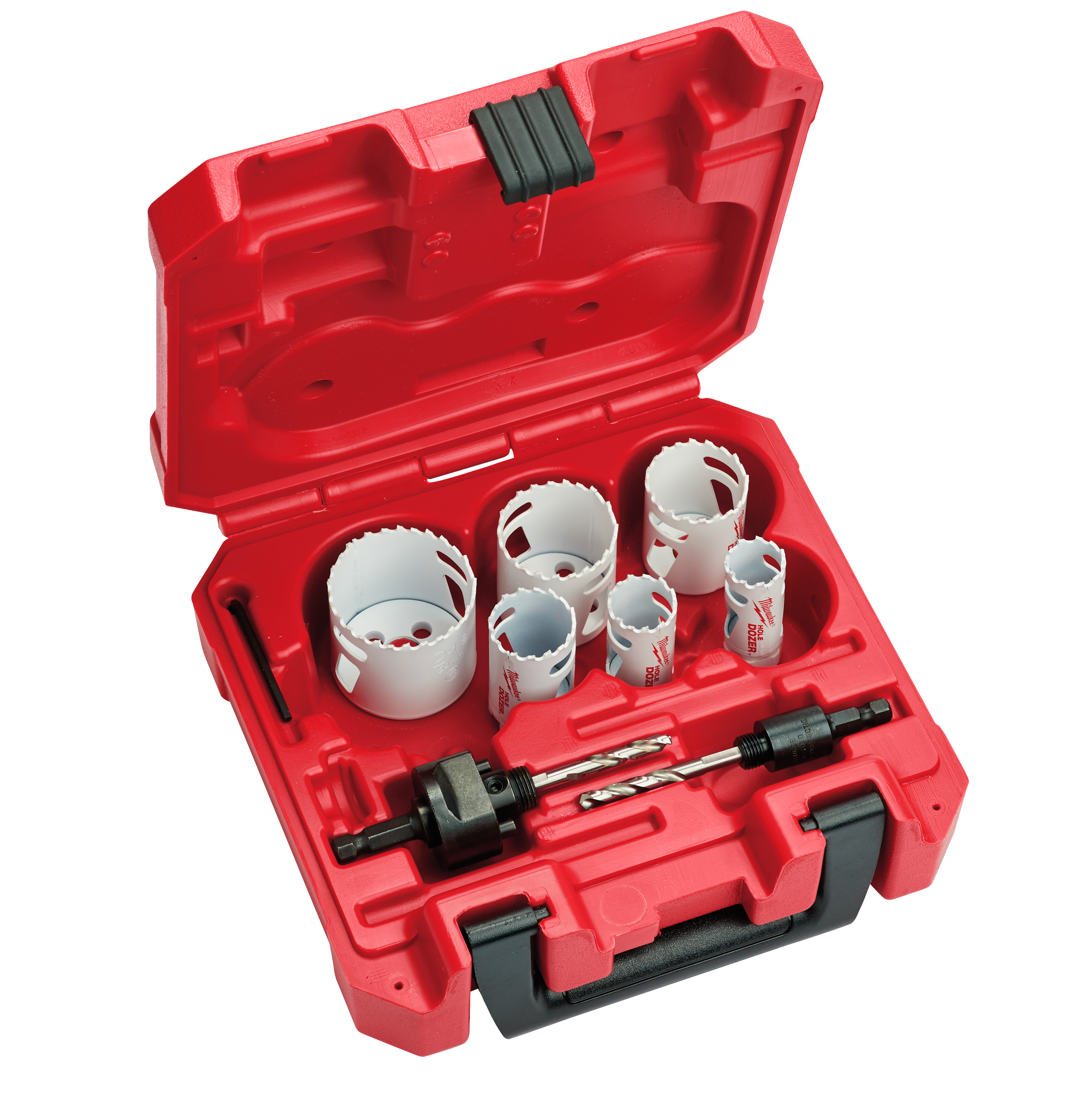 Milwaukee® 49-22-4074 Hole Dozer™ Locksmith's Hole Saw Kit, 8 Pieces, For Use With 49-56-7210, 49-56-7240, 49-56-7250 and 49-56-9100 Quick-Change Arbor, Bi-Metal/HSS