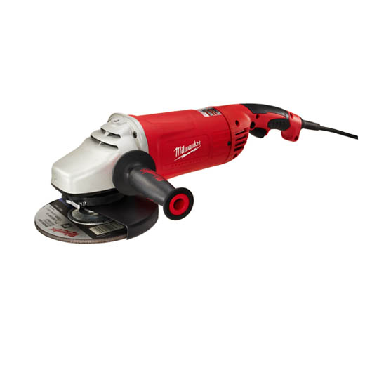 Milwaukee® 6088-30 Double Insulated Large Angle Grinder, 7 in, 9 in Dia Wheel, 5/8-11 Arbor/Shank, 120 VAC/VDC, Black/Red