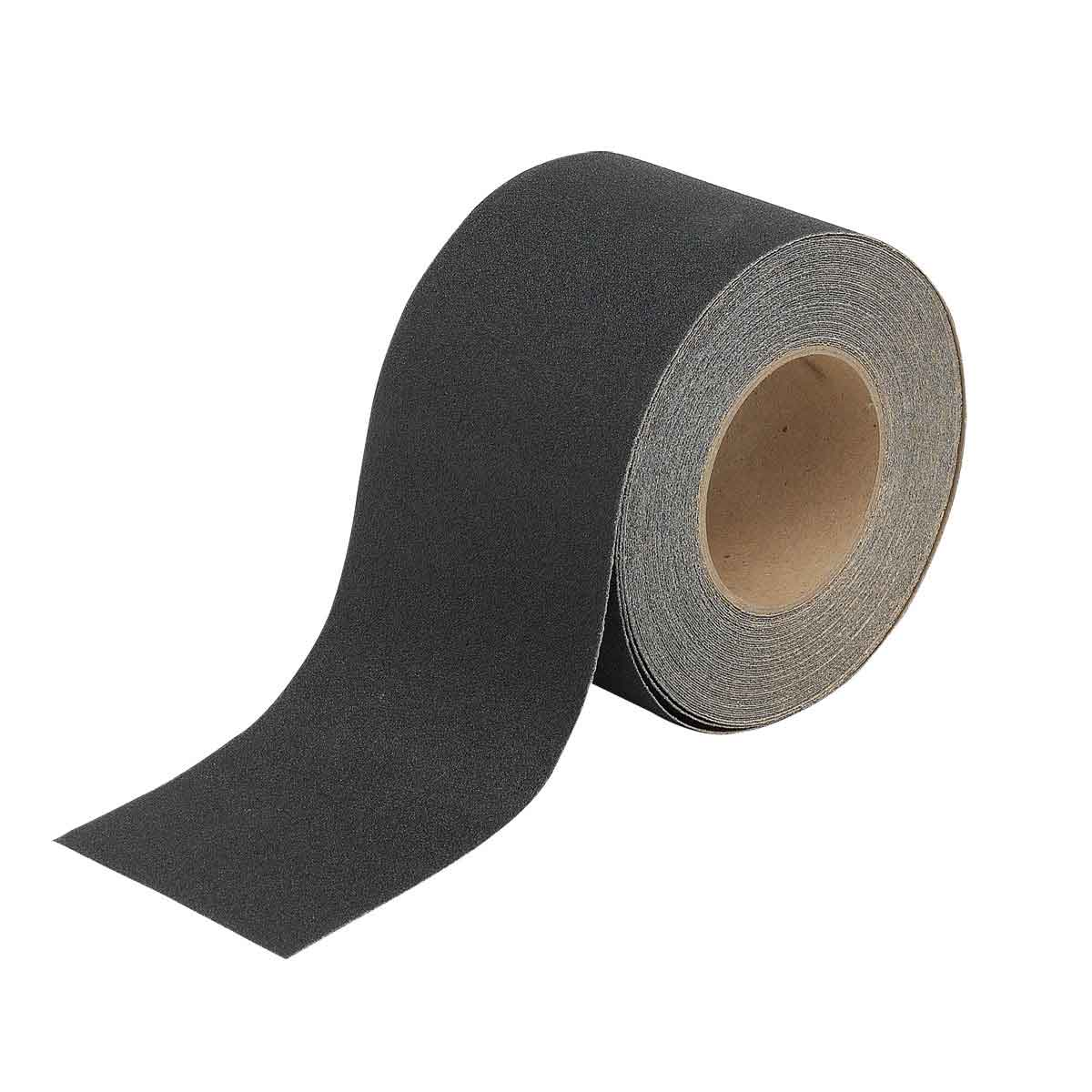 Brady® 78191 Blank Laminated Non-Reflective Roll Mounted Anti-Skid Tape, 60 ft L x 4 in W x 0.026 in THK, B-916 Polyester, Solid Surface Pattern, Gritted Surface