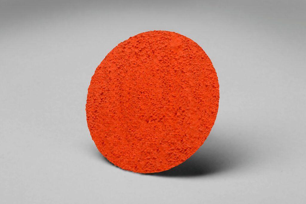 3M™ 80510 777F Close Coated Abrasive Disc, 1 in Dia Disc, P120 Grit, Fine Grade, Ceramic Abrasive, Type TR Attachment