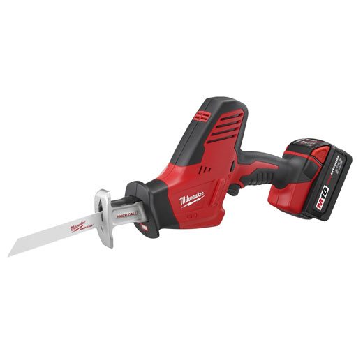 Milwaukee® HACKZALL™ 2625-21 M18™ 1-Handed Anti-Vibration Cordless Reciprocating Saw Kit, 3/4 in L Stroke, 3000 spm, Straight Cut, 18 VDC, 13 in OAL