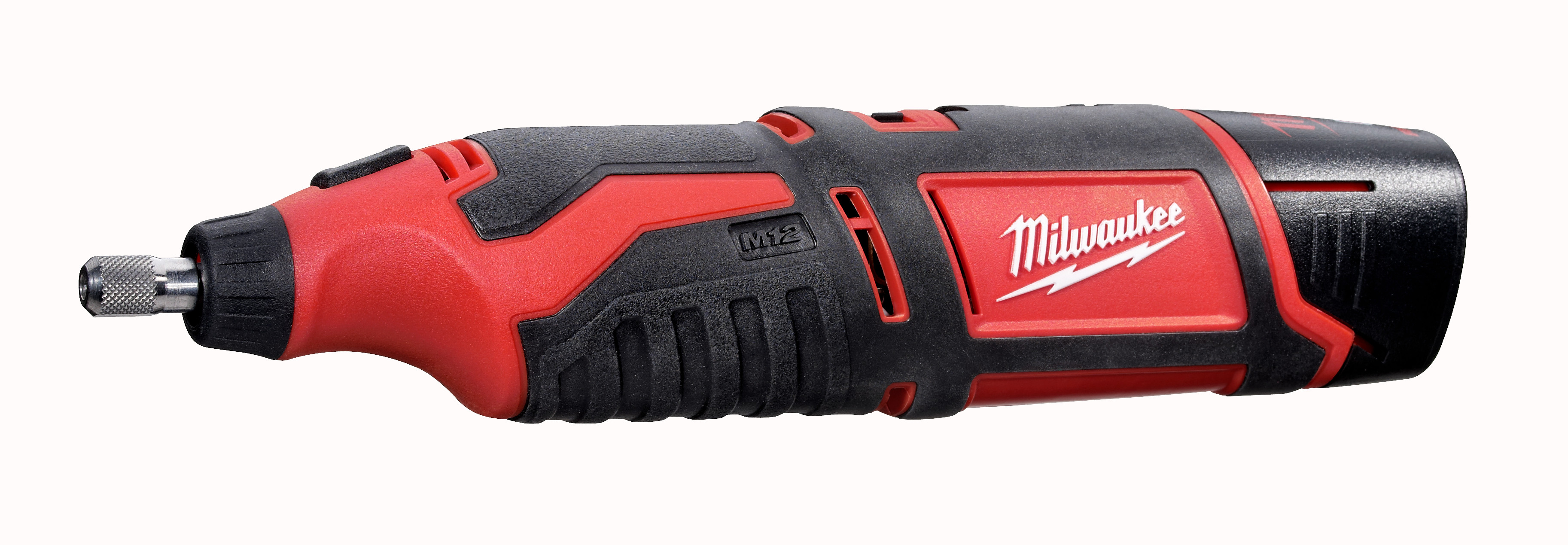 Milwaukee® M12™ 2460-21 Cordless Rotary Tool Kit, 12 VDC, 5000 to 32000 rpm Speed, Lithium-Ion Battery, Slide On/Off with Speed Dial Switch