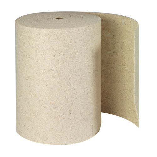 Brady® SPC® Re-Form® RFOP28DP Double Perforated Heavyweight Absorbent Roll, 150 ft L x 28-1/2 in W, 71 gal/bale Absorption, 80% Natural Cotton Fiber