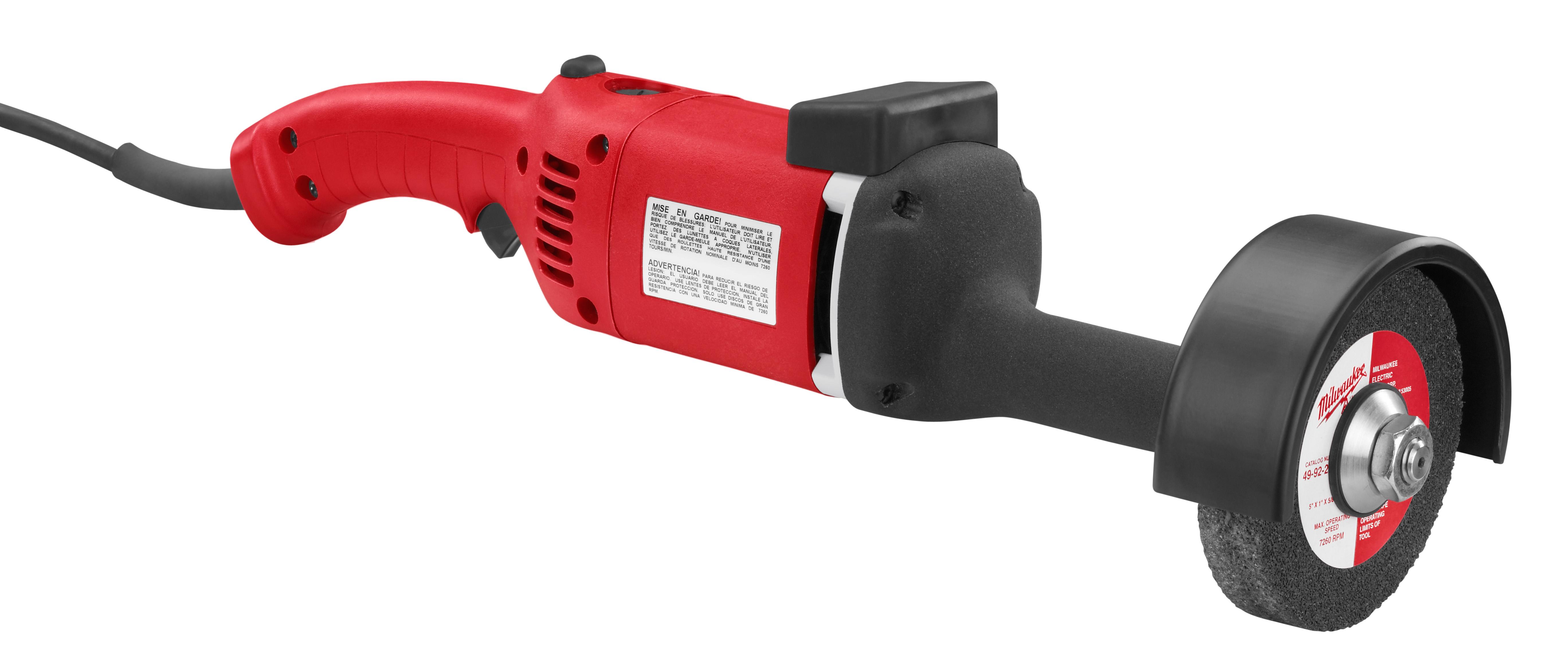 Milwaukee® 5223 Straight Die Grinder, 5 in Dia Wheel, 7000 rpm Speed, 120 VAC/VDC, For Wheel: Type 5, Trigger Lock Switch