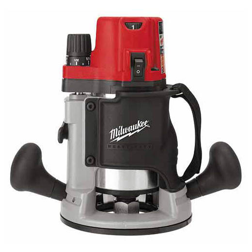 Milwaukee® BodyGrip® 5616-20 BodyGrip® Double Insulated EVS Router With Soft Start, Electric Switch, 1/4 in, 1/2 in Chuck, 2-1/4 hp, 120 VAC