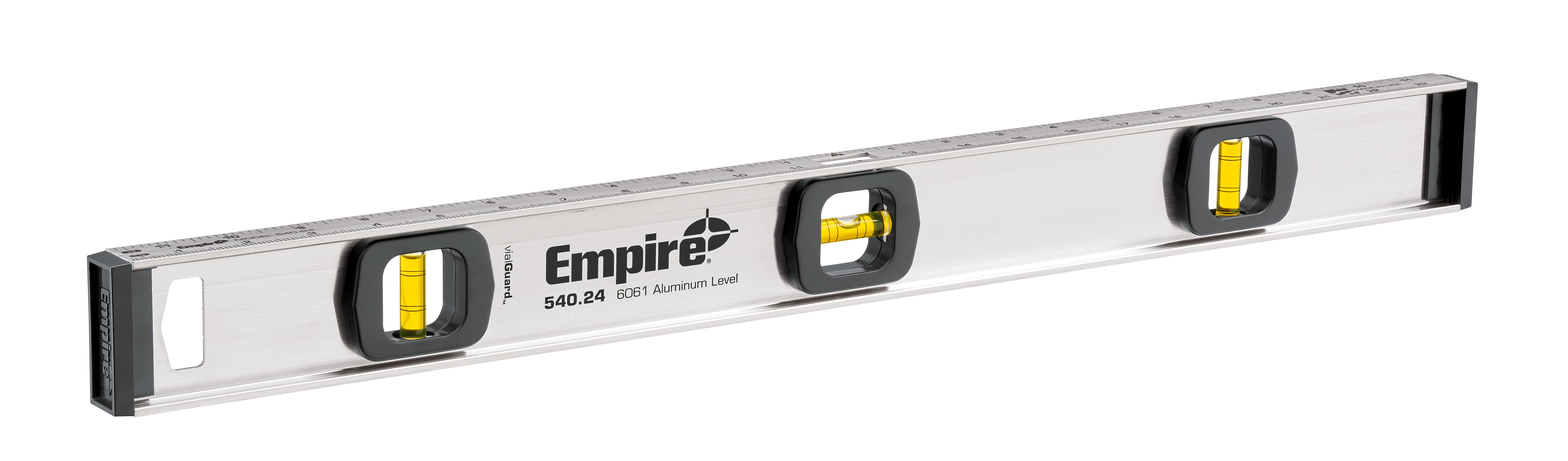 Milwaukee® Empire® 540-24 Tradesman's I-Beam Level, 24 in L, 3 Vials, Aluminum, (1) Level, (2) Plumb Vial Position, 0.001 in Accuracy