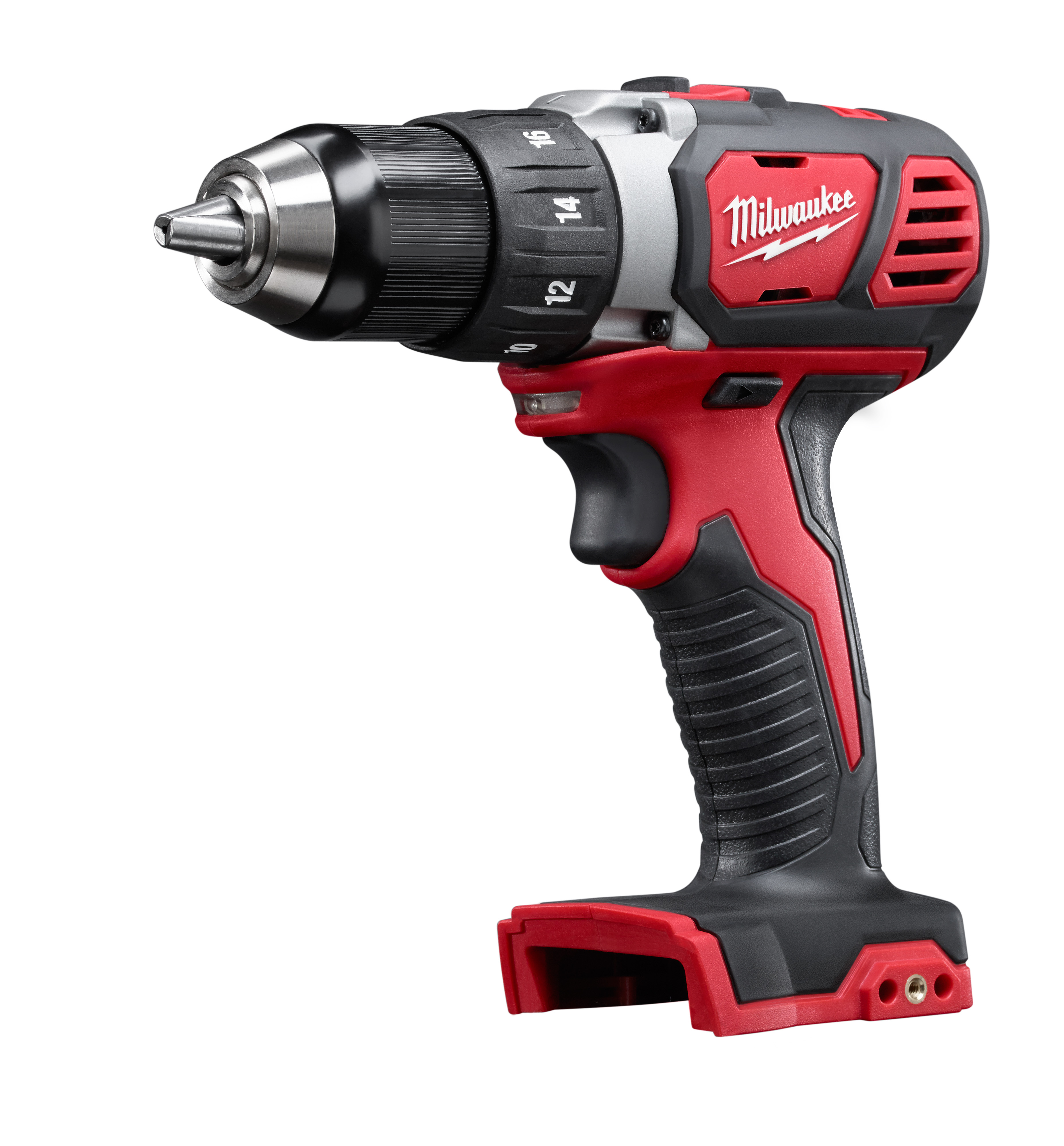 Milwaukee® M18™ 2606-20 Cordless Drill/Driver, 1/2 in Chuck, 18 VDC, 0 to 400 rpm, 0 to 1800 rpm No-Load, 7-1/4 in OAL, Lithium-Ion Battery