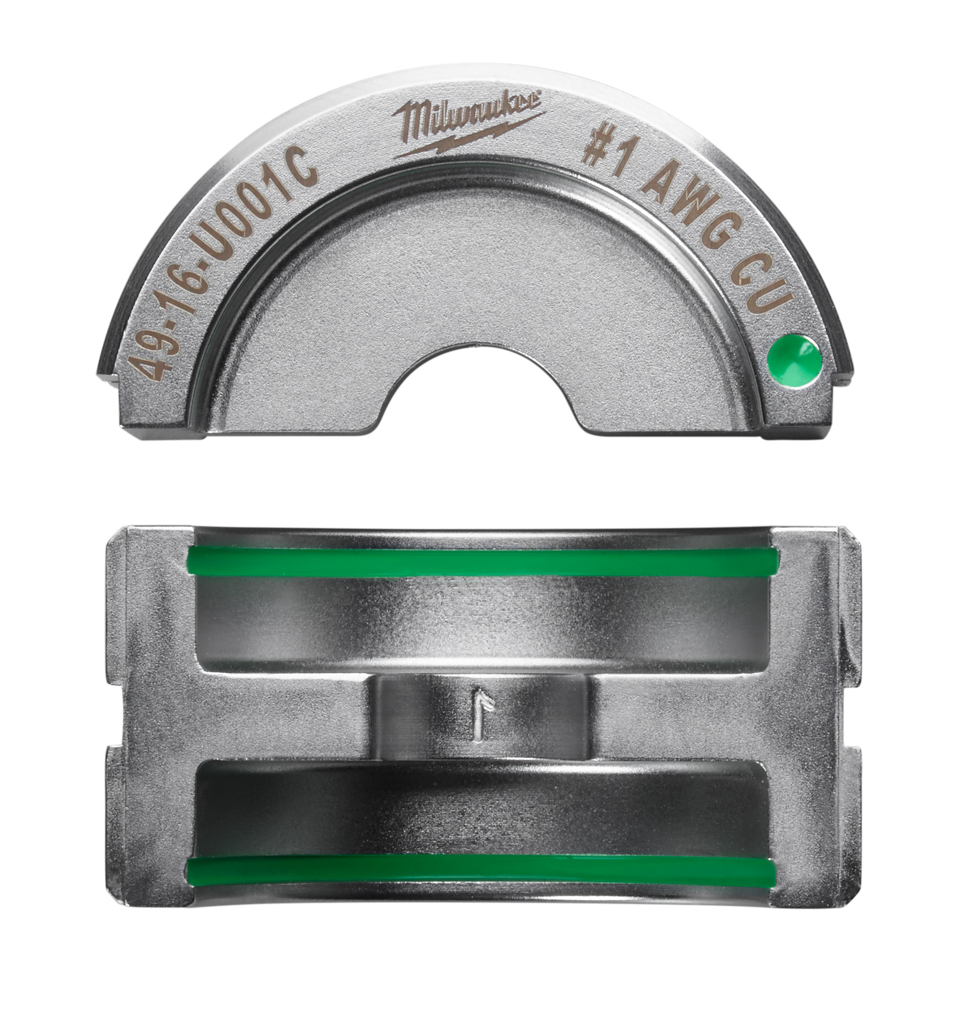 Milwaukee® M18™ 49-16-U001C FORCE LOGIC™ U-Style Crimping Tool Die, 1 AWG Copper Cable, Aluminum