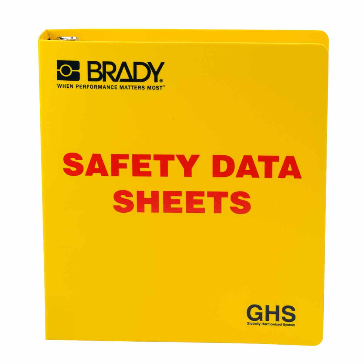 Brady® 121183 Right-To-Know SDS Binder, Safety Data Sheets (SDS) Legend, English, 1-1/2 in Ring, 11-5/8 in H x 11-3/4 in W