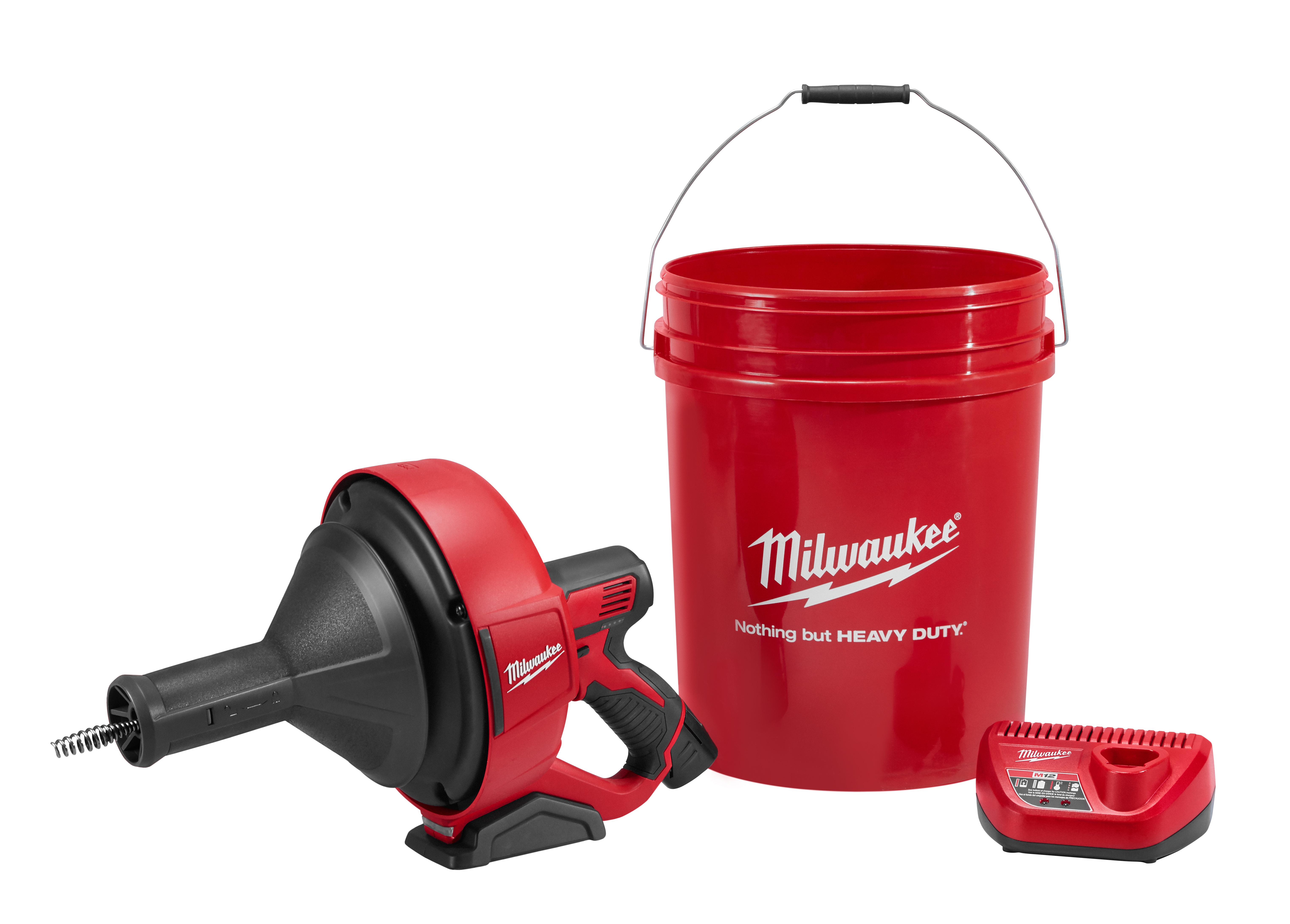 Milwaukee® M12™ 2571-21 Cordless Drain Snake Kit, 1-1/4 to 2-1/2 in Drain Line, 25 ft Max Run, 12 VDC, Metal Housing
