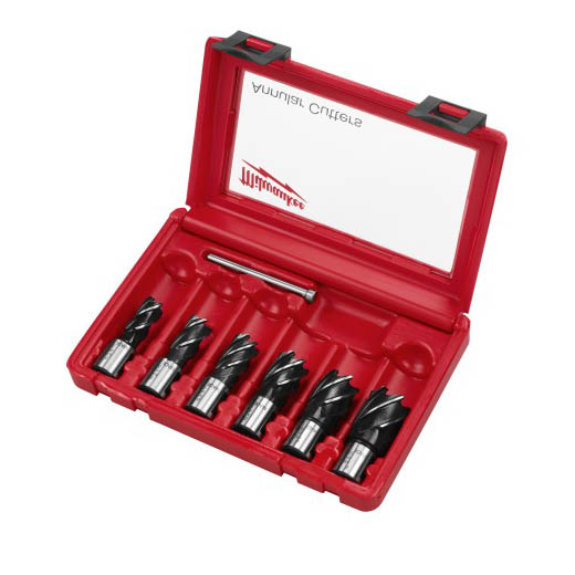 Milwaukee® 49-22-8400 6-Piece Annular Cutter Kit, 1 in D Cutting, 6 Pieces, For Use With Magnetic Drill Press, HSS