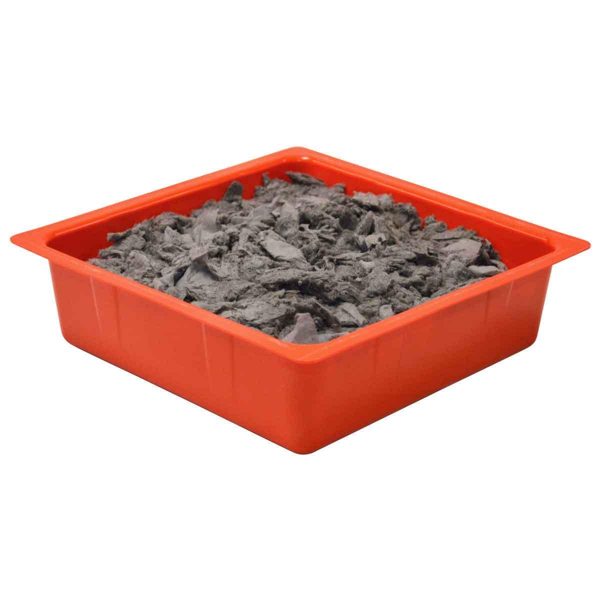 SPC® ALLWIK® DPA24 Drip Pan With 10 x 10 in Pillow, 10-1/2 in L x 10-1/2 in W x 3 in H, High Density Polypropylene, Orange, 0.75 gal Spill