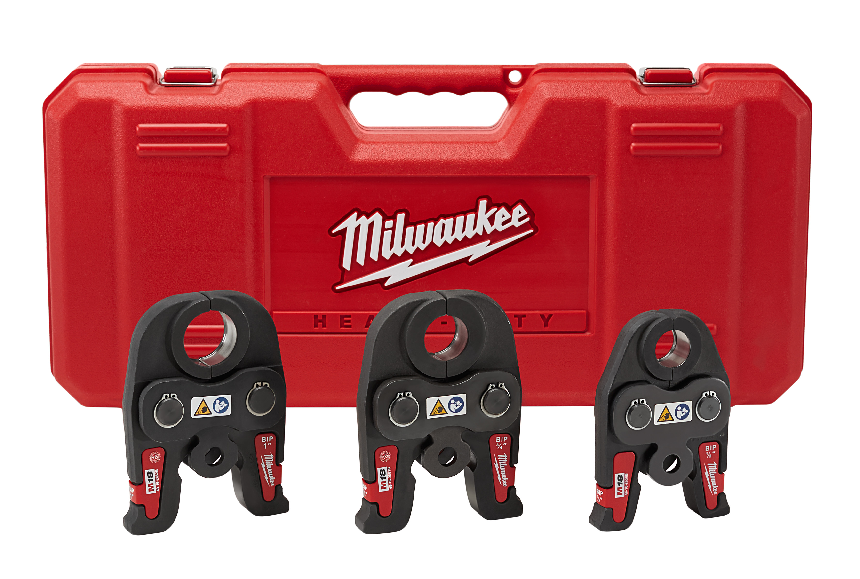 Milwaukee® M18™ 49-16-2696 Press Jaw Kit, For Use With FORCE LOGIC™ Press Tool, 1/2 to 1 in Jaw Capacity, Iron, Black