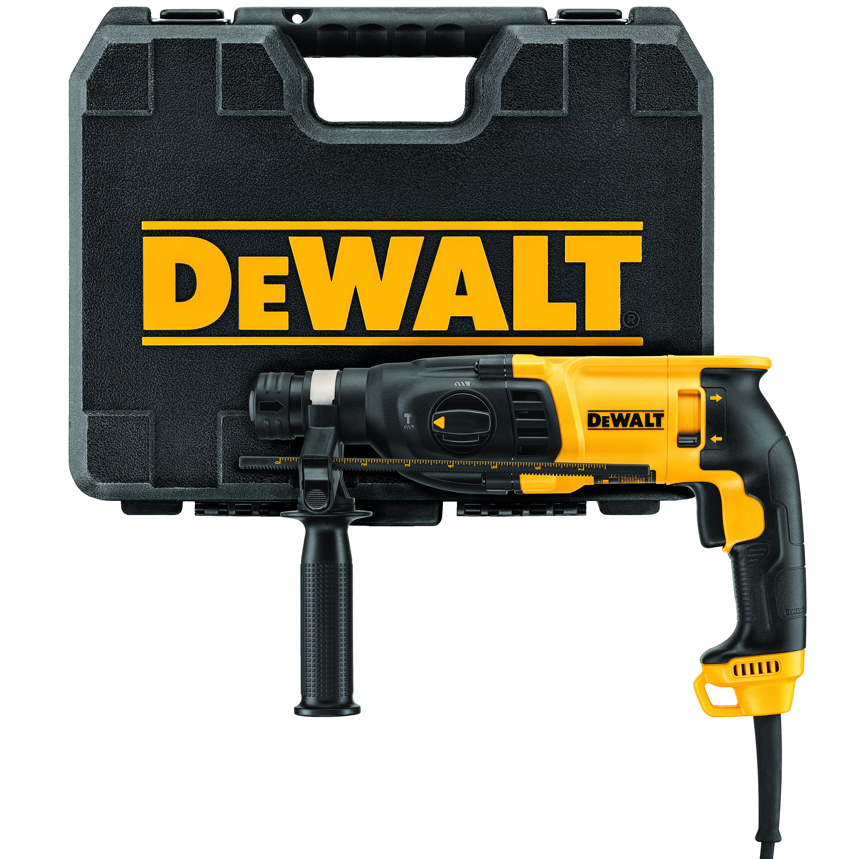 DeWALT® D25133K Corded Rotary Hammer Kit, 1 in SDS Plus® Chuck, 0 to 5500 bpm, 0 to 1500 rpm No-Load, 13-1/4 in OAL