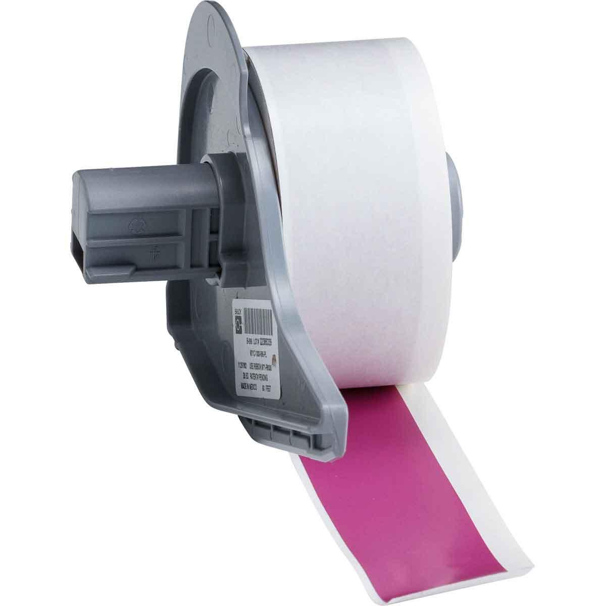 Brady® M71C-1000-595-PL Blank Thermal Transfer Tape, 50 ft L x 1 in W, Purple, B-595 Vinyl, Permanent Acrylic Adhesive, -40 to 180 deg F