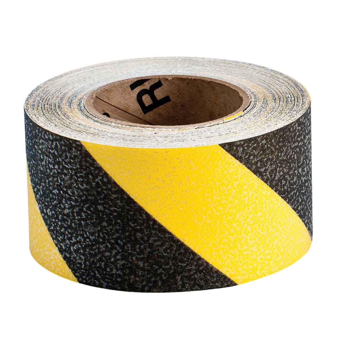 Brady® 92417 Blank Laminated Non-Reflective Anti-Skid Hazard Marking Tape, 18 yd L x 3 in W x 0.012 in THK, B-819 Vinyl, Stripes Surface Pattern