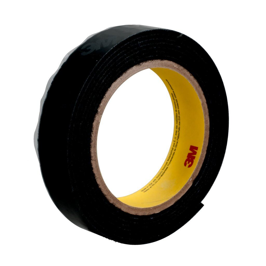 3M™ SJ3571 Reclosable Loop Fastener Tape, 50 yd L x 1 in W, 0.17 in THK Engaged, High Performance Acrylic PSA Adhesive, Woven Nylon Backing, Black