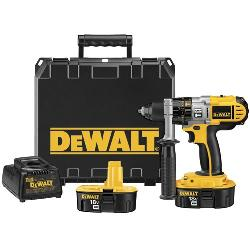 DeWALT® XRP™ DCD950KX Cordless Hammer Drill/Driver Kit, 1/2 in Metal Ratcheting Chuck, 18 VDC, 0 to 500/0 to 1250/0 to 2000 rpm No-Load, NiCd Battery