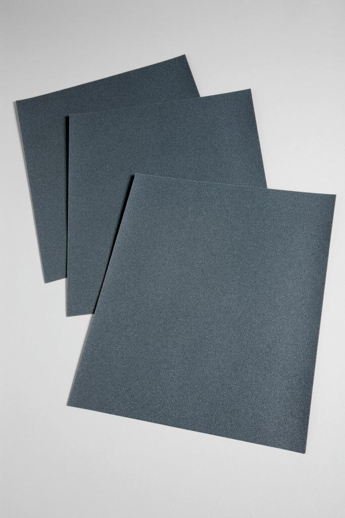 3M™ 02014 431Q Coated Sanding Sheet, 11 in L x 9 in W, 180 Grit, Very Fine Grade, Silicon Carbide Abrasive, Paper Backing