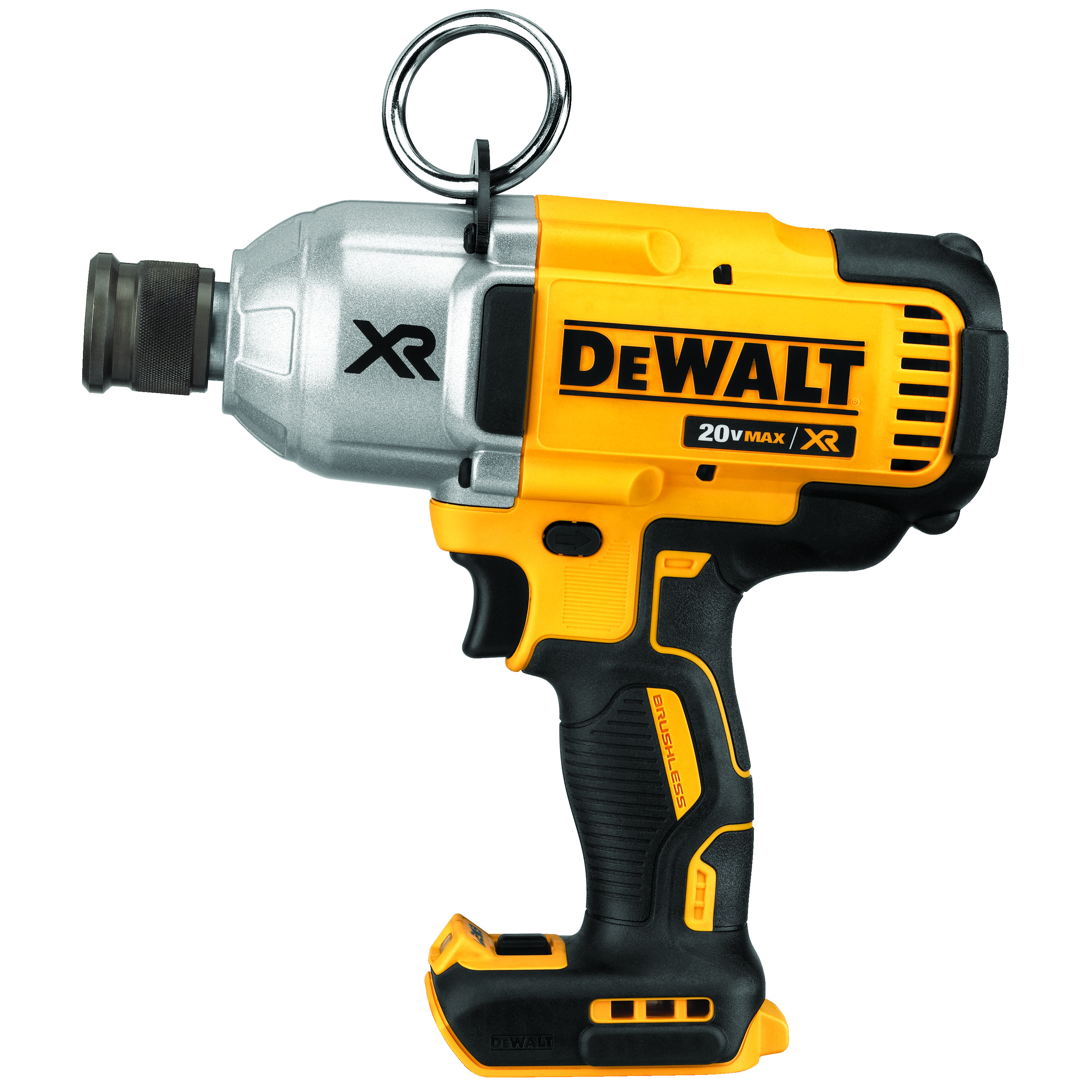 DeWALT® 20V MAX* MATRIX™ XR™ DCF898B Brushless High Torque Cordless Impact Wrench, 7/16 in Straight Drive, 500 ft-lb Torque, 20 VDC, 8.81 in OAL, Tool Only