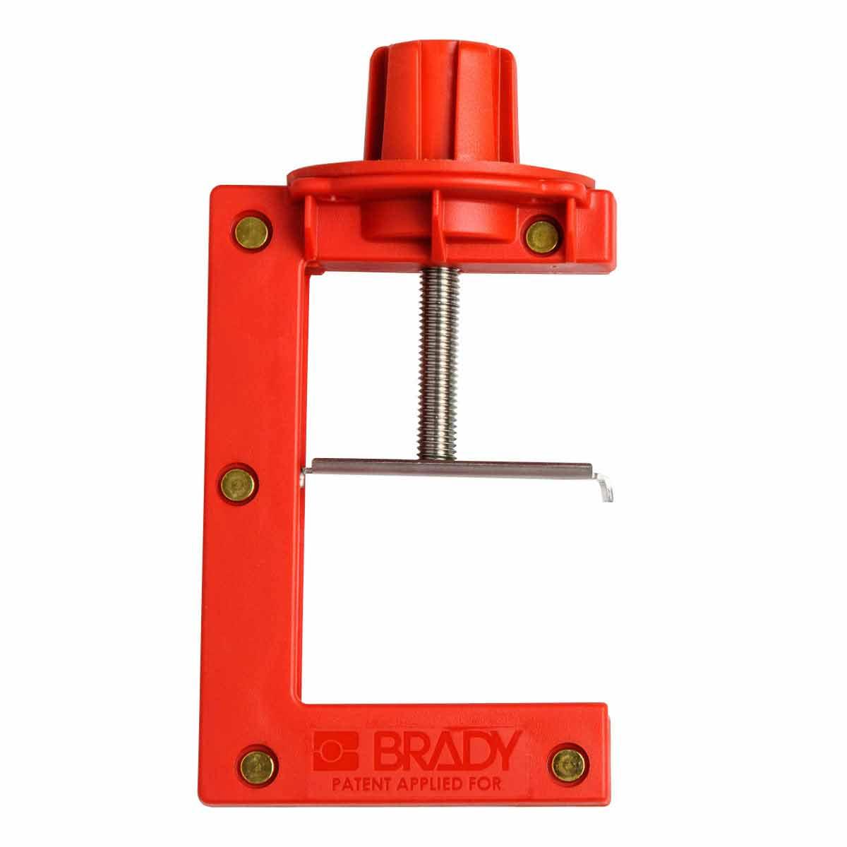 Brady® 121505 Large Butterfly Valve Lockout, Fits Minimum Handle Size: 2 in THK, Fits Maximum Handle Size: 4 in THK, 4 Padlocks, -20 deg F Min, 140 deg F max