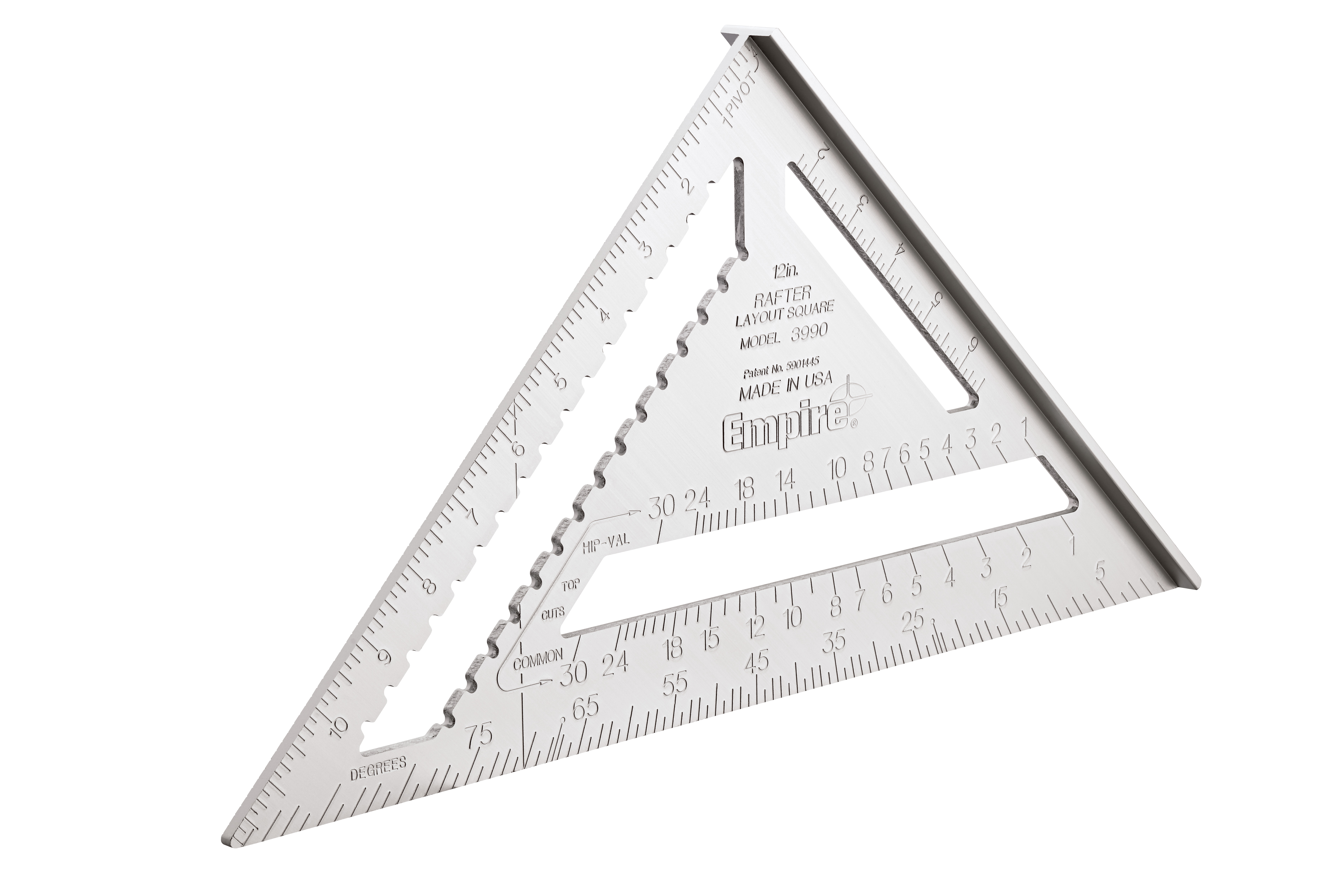 Milwaukee® Empire® Magnum® 3990 Heavy Duty Rafter Square, 12 in L, 1/8 in Graduation, 12 in Tongue, Aluminum