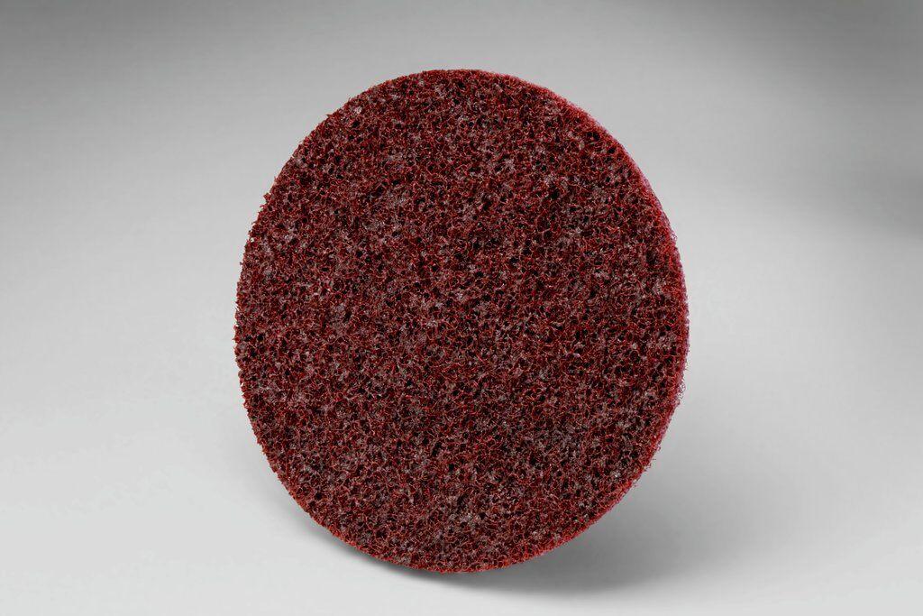 3M™ Roloc™ 048011-05531 SC-DR SC Series Non-Woven Surface Conditioning Disc With Plastic Button, 3 in Dia Disc, Medium Grade, Aluminum Oxide Abrasive, Type TR Attachment