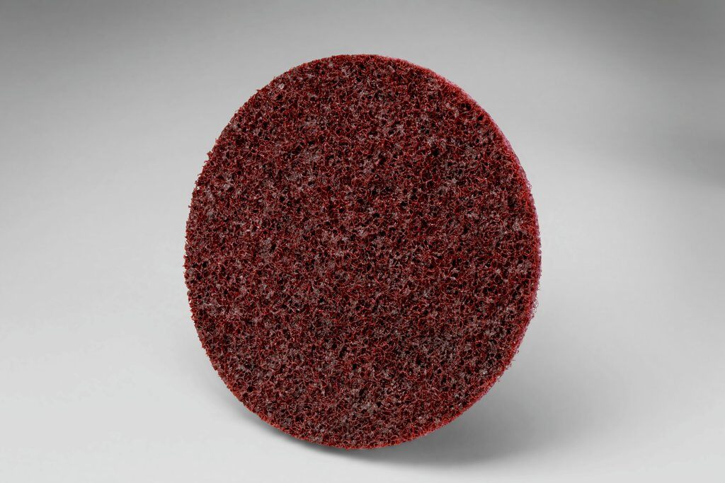 3M™ Roloc™ 048011-12953 SC-DR Surface Conditioning Disc, 4 in Dia Disc, Medium Grade, Aluminum Oxide Abrasive, Type TR Attachment