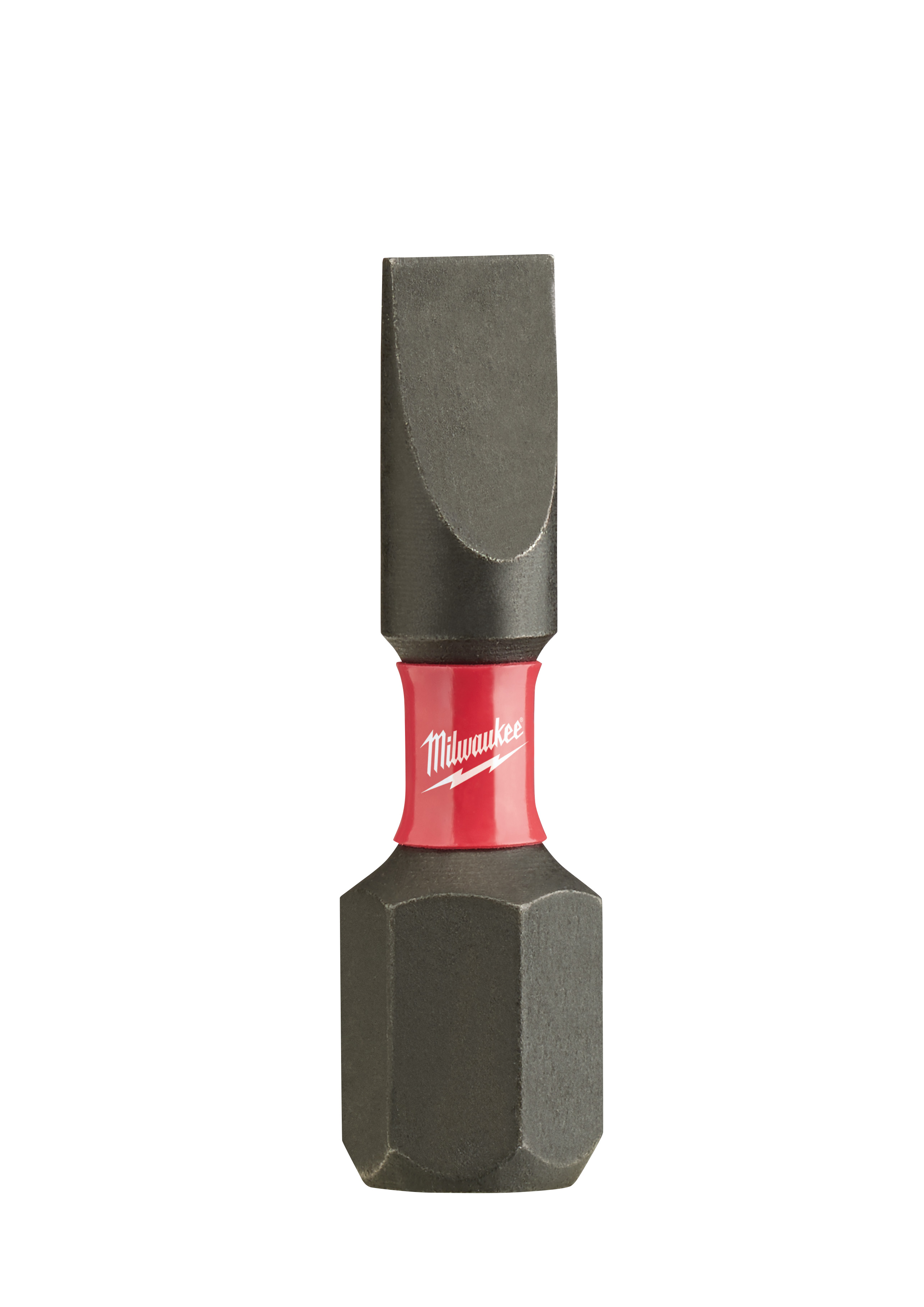 Milwaukee® SHOCKWAVE™ 48-32-4116 Impact Driver Bit, 1/8 in Slotted Point, 1 in OAL, 1/4 in, Custom Alloy76™ Steel