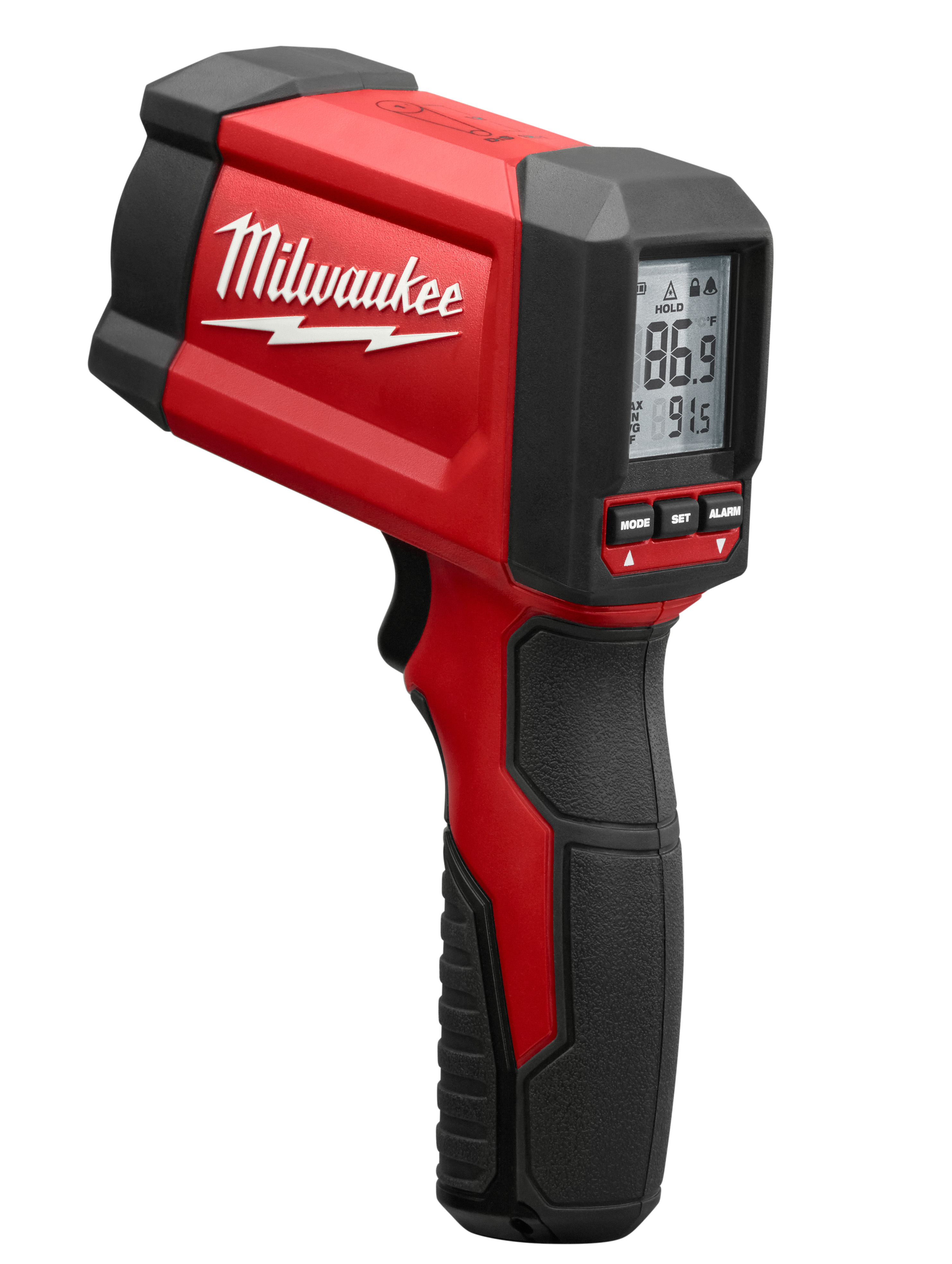 Milwaukee® TEMP-GUN™ 2268-20 Infrared Thermometer, -22 to 1472 deg F, +/-1.8 Accuracy, 12:1 Focus Spot, 0.96 Fixed, 9 VDC Alkaline Battery